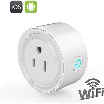 COOLEAD wifiスマートプラグ スマートコンセント リモコンスイッチ どこからでも家庭電気器具を遠隔操作 Googleホーム対応 ワイヤレスリモートコントロール Android / iOS対応
