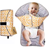 iZiv Portable Clean Hands Changing Pad, 3-in-1 Diaper Clutch, Changing Station, Diaper-Time Playmat with Redirection Barrier