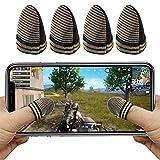 荒野行動 PUBG Mobile スマホゲーム 指サック AksBlay ゲーム用指カバー 手汗対策 銀繊維 耐摩耗性 指紋&静電防止 高感度 操作性アップ 超薄 通気性 快適性 伸縮性 優れたゲーム体験 iPhone/Android全機種対応 指サック 4個