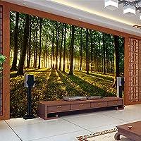 Ljjlm 3D立体大壁画スペースリビングルームのソファーベッドルームテレビの背景3D壁紙の壁カバー森の風景森-160X120CM