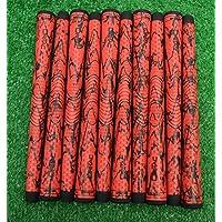 Winn 10 dri-tac X Midsizeゴルフクラブグリップ – レッド/ブラック – 60 RND – 49 g – 19408
