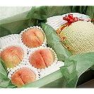 果物 ギフト メロン と 桃 詰め合わせ 山梨県産 もも 北海道産 赤肉メロン