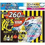 トップ スーパーナノックス 洗濯洗剤 液体 詰替超特大 1300g×2個パック+阪神タイガースデザイン空ボトル付き