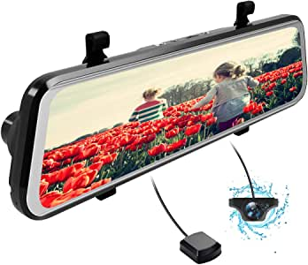 DDAUTO ドライブレコーダー デュアルドライブレコーダー 9.66インチタッチパネル デジタルインナーミラー 前後カメラ 1080PフルHD 2カメラ同時録画対応 AHDバックカメラ連動 170°広視野角 Gセンサー 24時間監視 夜視機能搭載 GPS速度測定 駐車監視 防水構造 日本語説明書付き