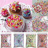 Kangkang@ 100g DIY Polymer Clay Colourful Fake Candy Sweets Sugar Sprinkles Decorations for Fake Cake Dessert Simulation Food Dollhouse Style A