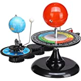 三球儀 ソーラーシステムモデル おもちゃ 太陽系模型 天体軌道モデル 動く太陽系模型 物理モデル 教育玩具 学習玩具 太陽・地球・月の動き 天文学的知識 星体 太空秘密 科学研究 惑星軌道 軌道模型 天体の動き 天体研究 日食 月食 教師用品 軽便で
