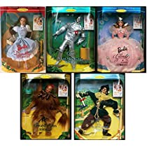 """Hollywood Legendsコレクションセットof 5"""" Wizard of Ozバービー人形セット:ドロシー、ライオン、"""" Collectible Tin Man、スケアクロウ& Glinda"""