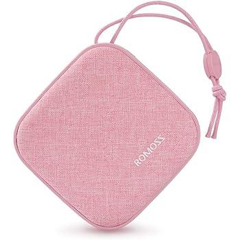 モバイルバッテリー 10000mAh ROMOSS 最軽量 かわいい 携帯充電器 Candybox型 iPhone Android対応 桜ピンク