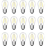 2W LED S14 Replacement Light Bulbs E27 Base Shatterproof Retro Edison Bulbs for Waterproof Outdoor Commercial String Lights(1