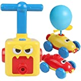 Inertial Power Balloon Car,Inflatable Balloon Pump Hand Push Mini Plastic Air Power Balloon Science Experiment Vehicle Toy fo