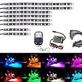AMBOTHER ledテープ バイク用 全15色 切替 オートバイク汎用 装飾ledテープライト ledイルミネーション 5050SMD 8本セット RFリモコン付き