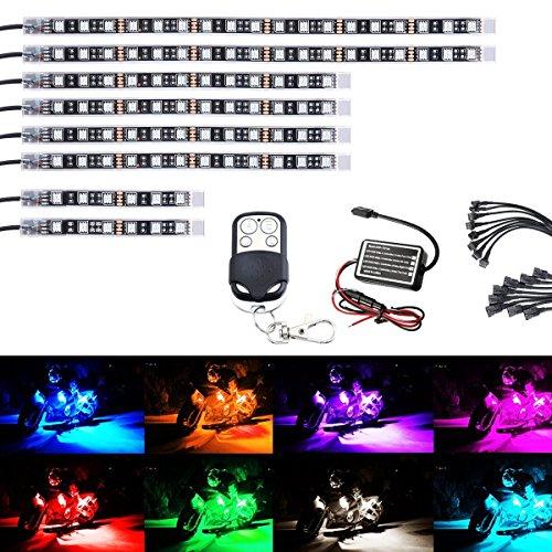 AMBOTHER ledテープ バイク用 全15色 切替 オ...