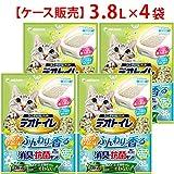 【ケース販売】デオトイレ ふんわり香る消臭・抗菌サンド ナチュラルグリーンの香り 3.8L×4袋