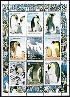 ペンギン(鳥)の切手/ニジェール1998年9種連刷シート