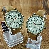 [タイメックス]TIMEX メンズ レディース ユニセックス ペアウォッチ アンティ ーク調 本革 ライトブラウン T2P220T2P220 腕時計 [正規輸入品]