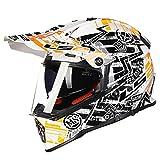 オフロード バイクヘルメット ヘルメット バイク用 バージョン ダブルシールド PSC付き  YHZ-98[商品07/XXL]