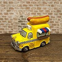置き物 小物 こだわりの、オシャレな アメリカン レトロ雑貨 マネーバンク HOT DOG CAR