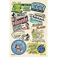 99ピース ジグソーパズル パズルプチライト ウッドパズル バッジアート ミッキー&フレンズ(10x14.7cm)