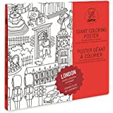 OMY London Giant Colouring Poster, Paper, Multi-Colour, Medium
