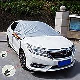 AUDEW 車用 車体ハーフカバー フロントガラス フロントガラスカバー 凍結防止シート 日よけ 防雨 防塵 凍結防止 積雪対策 冬 風飛び防止 SUV対応 収納袋付 SUV対応 XL(1.5mx1.3mx0.55m)