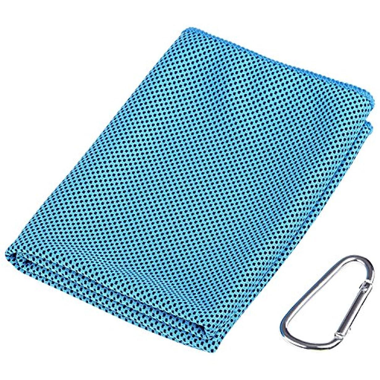 流すピアニストロビーGWHOLEクールタオル 速乾タオル 超吸水 軽量 速乾 熱中症対策 90*30cm
