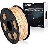 SUNLUウッドフィラメント - 1.75 mm 3Dプリンタフィラメント、1 kgスプール(2.2 lbs)、寸法精度+/- 0.02 mm Sweet Smell 3Dフィラメント、ほとんどの3Dプリンタおよび3Dペン用の 3Dプリンタフィラメント