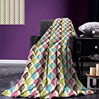 "smallbeefly Mid Century Throw Blanket抽象オーバルリーフフォームで異なる色の組み合わせデザインと暖かいマイクロファイバーすべてシーズン毛布ベッドやソファレッドブラックPale Grey 50""x30"""