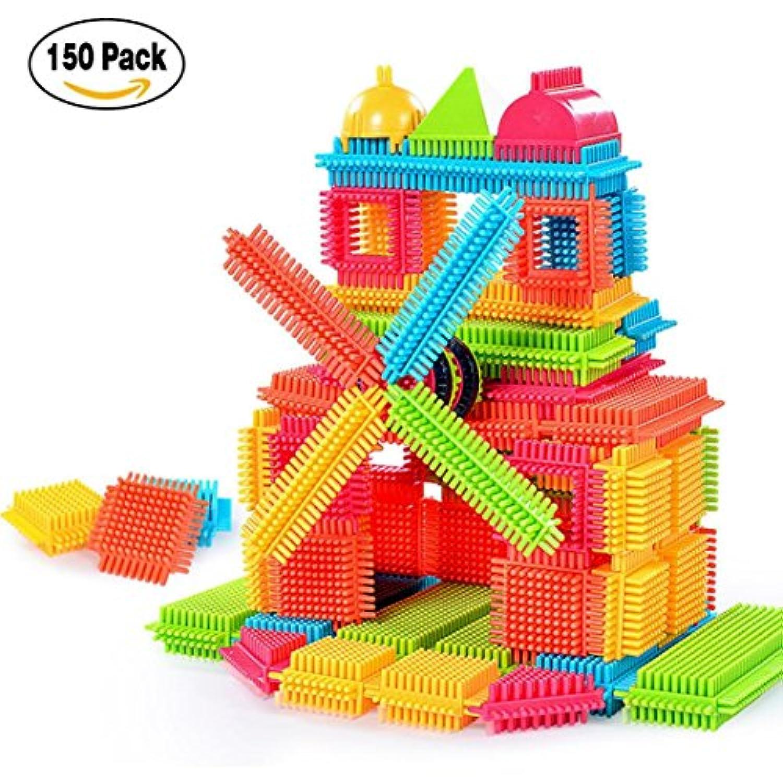(150PC, C) - 3D Construction Play boards ToysBuilding Bristle Shape Blocks Tiles Construction Play boards Toys Toddlers Kids 100/120/150pcs t convinced (150PC, C)