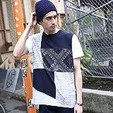 (ティーケー タケオキクチ) tk.TAKEO KIKUCHI パターンパッチワークTシャツ 17032202 03(L) ブルー(592)