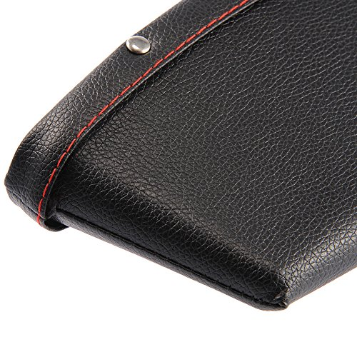 2pcs Creative Car Storage Box Leather Auto Car Seat Gap Pocket Catcher Organizer Leak-Proof Storage Box Auto Bag Container (BLACK) Thappymart