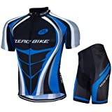 ZEROBIKE® Men's Short Sleeve Breathable Cycling Jersey Padded Pant Outdoor Sports Wear Breathable Quick Dry