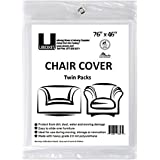Uboxes Set of 2 (76x46) Chair Covers 2 MIL Heavy Duty Polyethylene to Protect Items From Dust Dirt and Spills From Dust Dirt