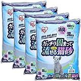 アイリスオーヤマ ガッチリ固まってトイレに流せる猫砂 7L×4袋 GTN-7L
