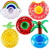 Swim Rings, 5PCS E-TING Swimming Pool Float Raft Lilo Lifebuoy for Girl Dolls, Summer Fun Water Party and Kids Bath Toys Infl