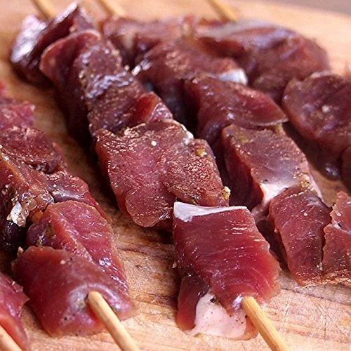 ミートガイ 手作り 味付けヤギ肉キューブ (竹串10本付き) (150g) 山羊肉 シシカバブ 100%無添加 Additive-free Original Spiced Goat Cubes + 10 Skewer Sticks