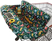 Suessie Shopping Trolley Cover for Baby or Toddler - 2-in-1 Highchair Cover - Compact Universal Fit - Modern U
