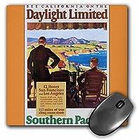 3drose LLC 8x 8x 0.25インチマウスパッド「Californiaサザン・パシフィック鉄道ビンテージ旅行ポスター(MP 180221_ 1)