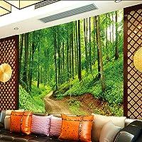 Lixiaoer カスタム写真の壁紙3Dステレオの壁紙緑の木の風景テレビ壁の壁画カスタムリビングルーム高品質のオフィスの壁紙-400X280Cm