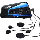 LX-B4FM バイク インカム 4riders同時通話 FMラジ Bluetooth防水インターコ バイク用インカム スマホ音楽再生 Siri/S-voice IP67防水 無線機いんかむヘルメット用インカム 連続15時間の長時間通話 インカムバイク 2種類マイク 日本語取扱 認証済み