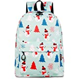 Lightweight Backpack 15 Inch for Girls,Teens Fashion Floral Anmials/Plants/Fruits Print College Student Cute School Backpack
