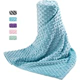 Acdyion Removable Duvet Cover 48x72 for Weighted Blankets-Super Soft Minky Dot with 8 Ties Cover Only(seaGrass)