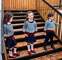 LuckyYumi 小学生制服 卒業式 子供スーツ ジャケット 学園 スクール ユニホーム 小学校 子供 キッズ スーツ 上下セット 英国風 フォーマルスーツ ジュニア 紳士服 (100cm, ブルー男)