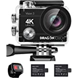 Dragon Touch 4K Action Camera 16MP Sony Sensor Vision 3 Underwater Waterproof Camera 170° Wide Angle WiFi Sports Cam with Rem