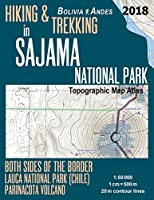 Hiking & Trekking in Sajama National Park Bolivia Andes Topographic Map Atlas Both Sides of the Border Lauca National Park Chile Parinacota Volcano 1-50000: Trails, Hikes & Walks Topographic Map (Travel Guide Hiking Trail Maps Bolivia)