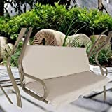 boyspringg Swing Cushion Cover Swing Seat Cover Waterproof Replacement for 3 Seat Swing Chair All Weather Swing Chair Protect