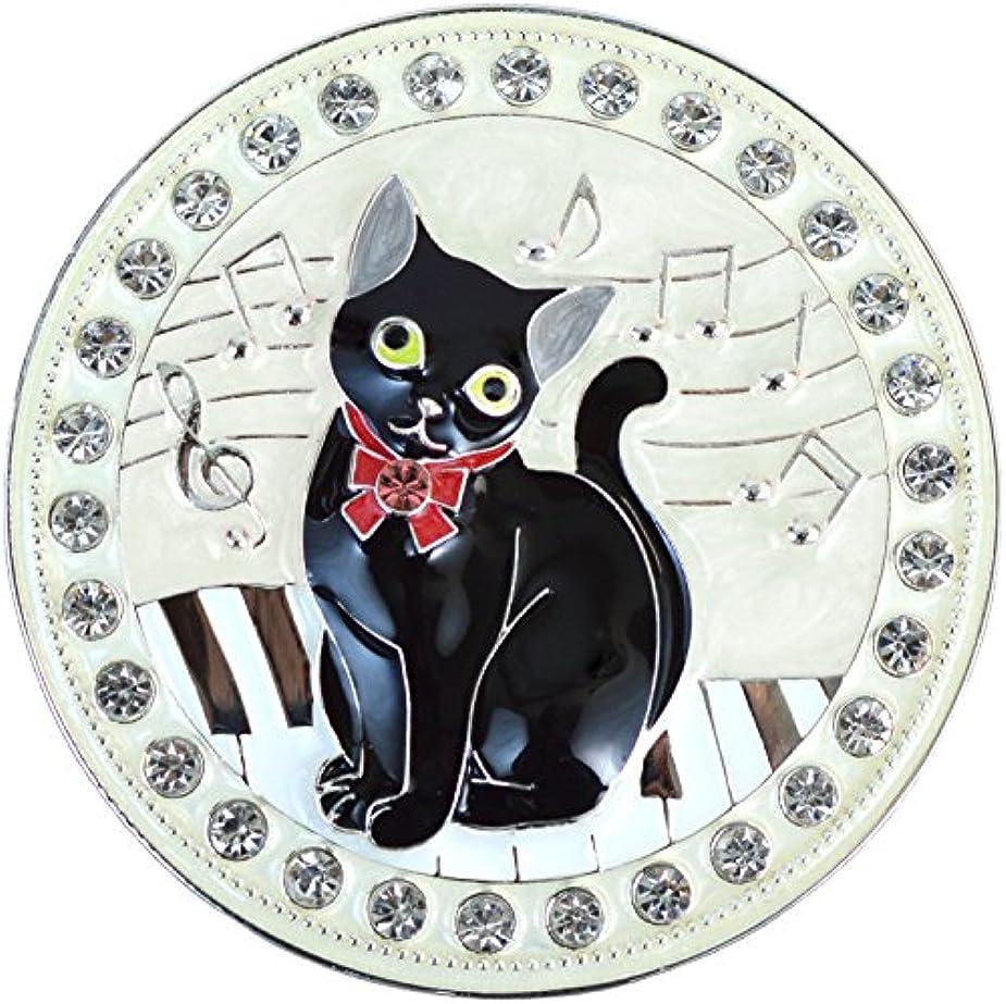 トロピカル黙真空[プライムキャット] コンパクトミラー 拡大鏡付き (黒猫) G-4427N