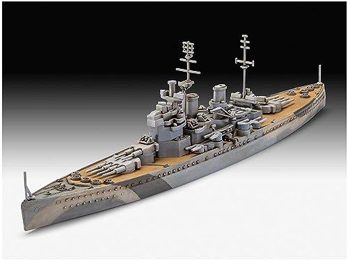 ドイツレベル 1/1200 イギリス海軍 HMS キングジョージ5世 プラモデル 05161