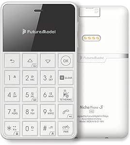 【公式発売】BEGALO SHOP FutureModel NichePhone-S 4G カードサイズ SIMフリー ドコモ/ソフトバンクSIM対応 携帯電話 ニッチフォン-S 4G Android 6.0搭載 4G Wi-Fi テザリング Bluetooth 4.0BLE ボイスレコーダー 音楽再生 アラーム SMS対応(ホワイト)
