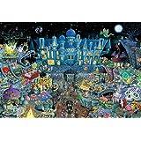 1000ピース ジグソーパズル Cartoon ホーンテッドパーティ(49x72cm)