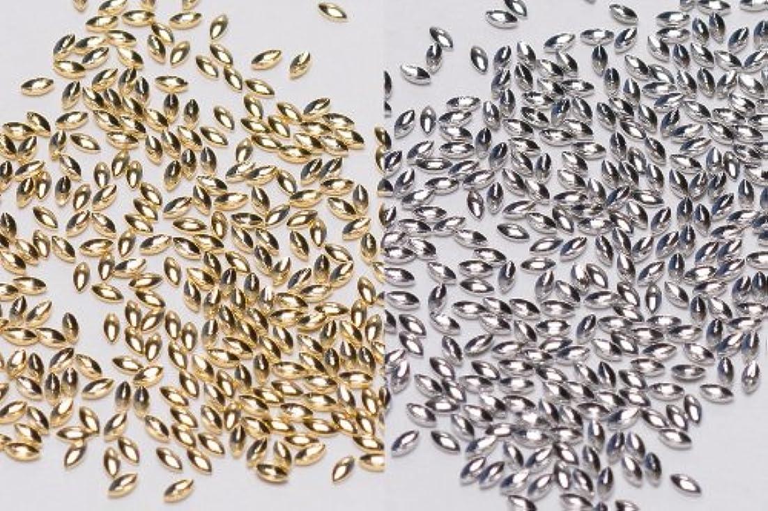 のど赤字実施する[リトルプリティー]ネイルパーツ Nail Parts LPスタッズリーフ(1X2) 3S 50入 シルバー